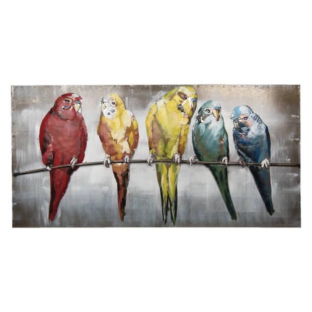 Clayre & Eef Wanddecoratie vogels 120x60x7 cm