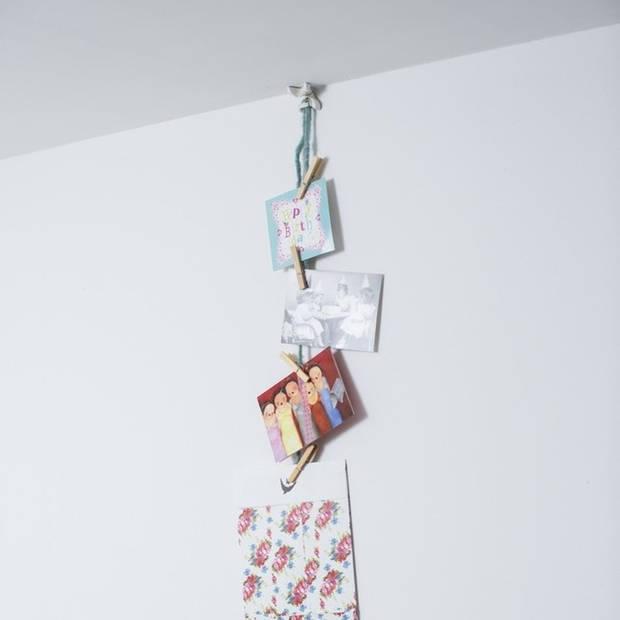 4 stuks ophangsysteem klemmen voor slingers/ballonnen - Hoekklemmen
