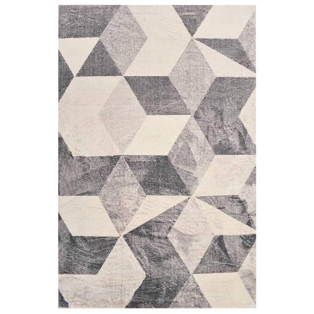 vidaXL Vloerkleed bedrukt 80x150 cm polyester beige