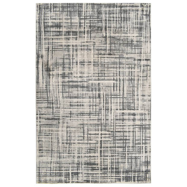 vidaXL Vloerkleed bedrukt 140x200 cm polyester beige