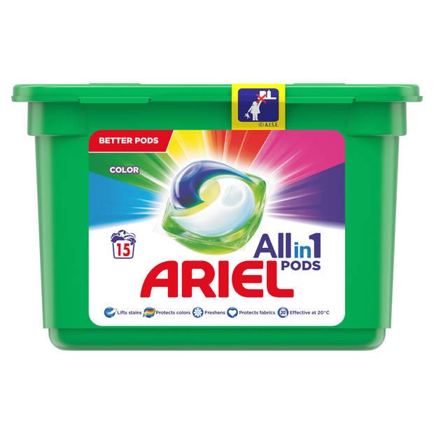 Ariel all-in-1 Pods wasmiddel Color - 15 wasbeurten