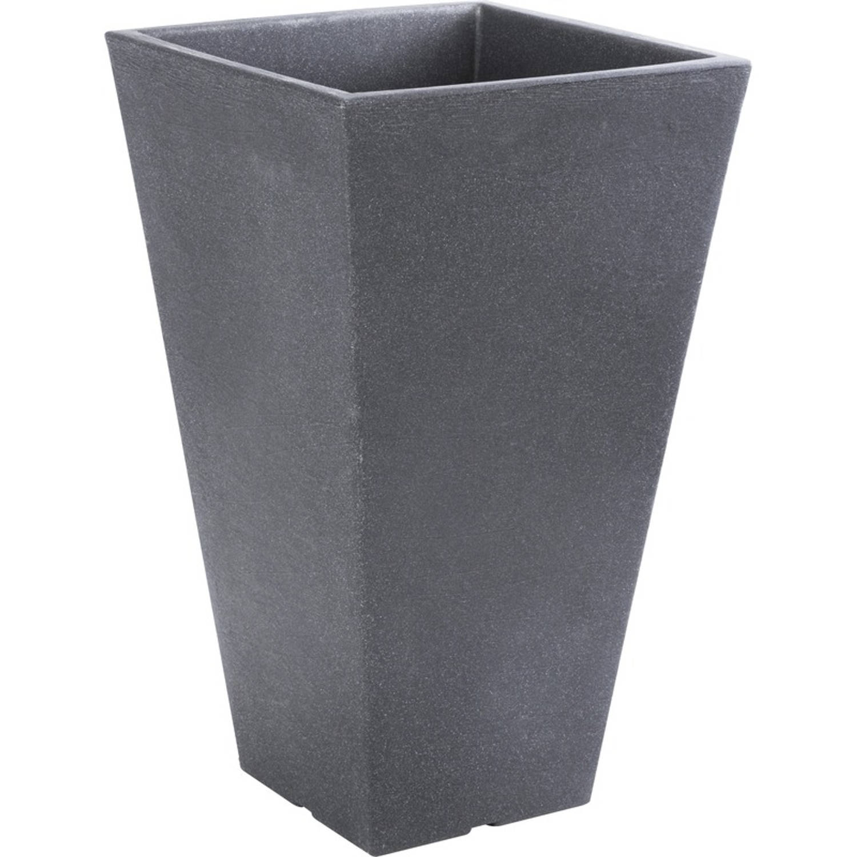 Antraciet Grijze Bloempot 45 Cm - Donker Grijze Plantenpot 45 Cm