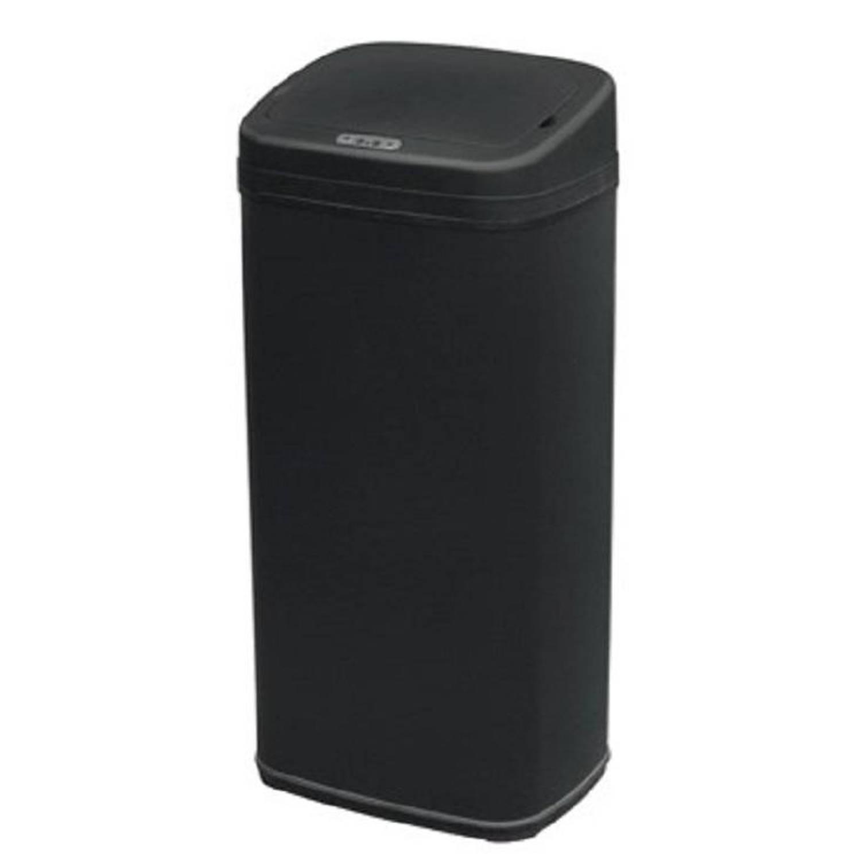 4cookz® Clever Square Black Sensor Prullenbak - 30 Liter - Zwart