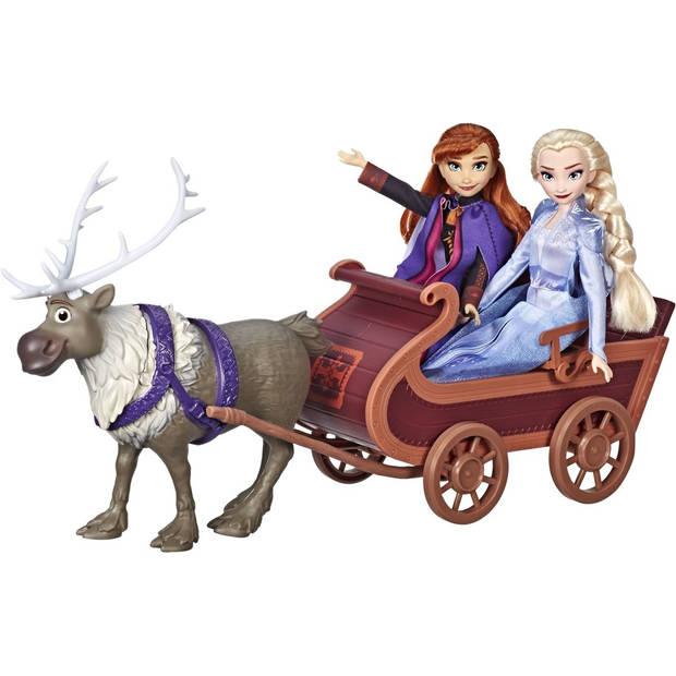 Hasbro Disney Frozen 2 Slee Sven en zussen 60 cm multicolor