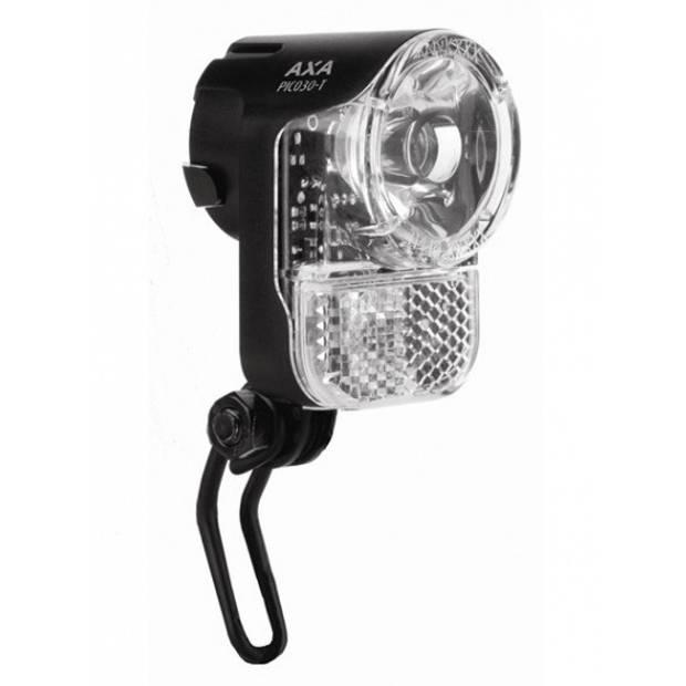 AXA koplamp Pico 30 Switch led dynamo zwart