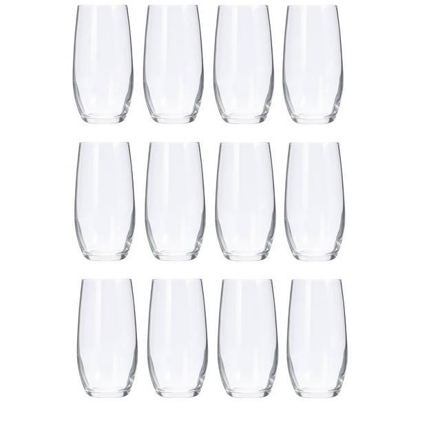 12x luxe Sapglazen/Waterglazen set van 360 ml