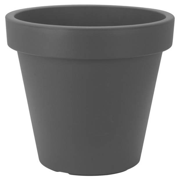 1x Kunststof bloempotten 50 cm antracietgrijs - Bloempotten/plantenpotten voor binnen en buiten