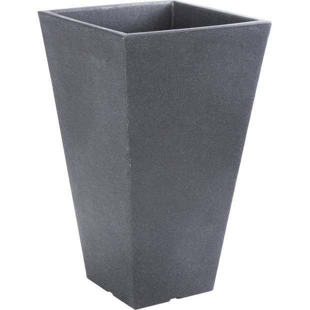 Antraciet grijze bloempot 35 cm - Donker grijze plantenpot 35 cm