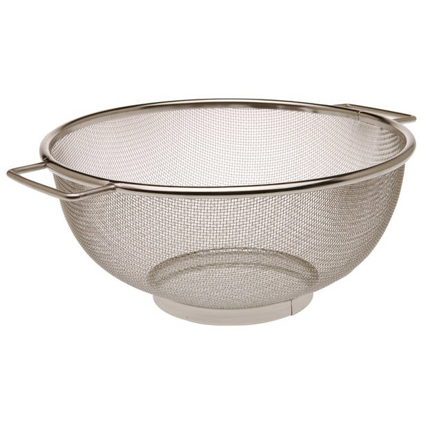 RVS keuken vergiet/zeef 25 cm - Keuken/koken benodigdheden - Pasta/aardappels/groente afgieten - Zeven/vergieten