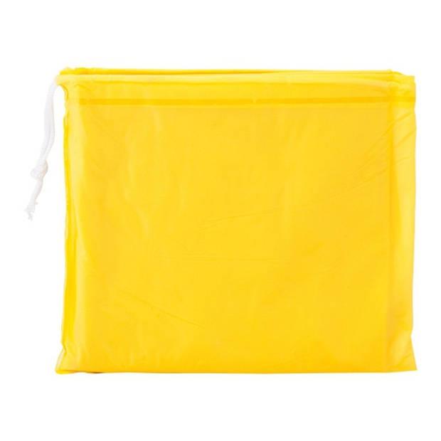 8x Kinder regen poncho geel - Regenponcho voor kinderen
