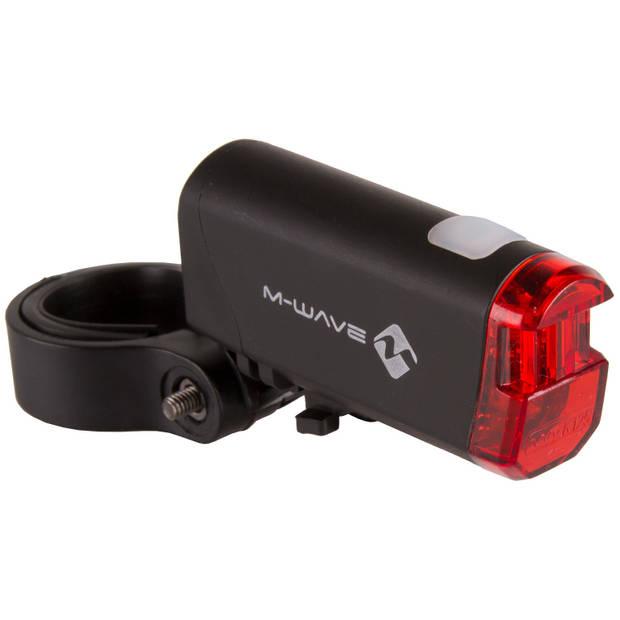 M-Wave achterlicht Helios K 1.1 batterij led zwart/rood