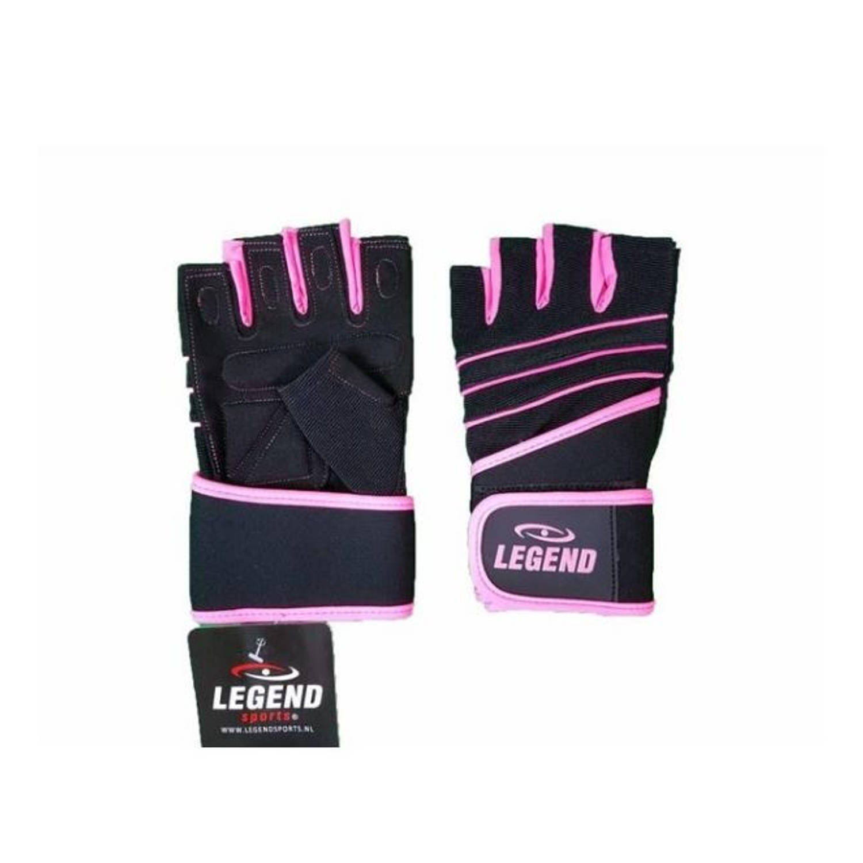 Korting Legend Sports Fitness handschoen dames legend grip roze maat XS