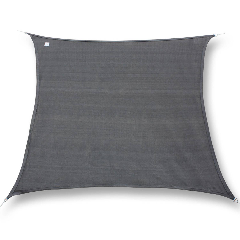 Hanse® vierkant waterdicht schaduwdoek -zonnedoek 5x5m Grijs