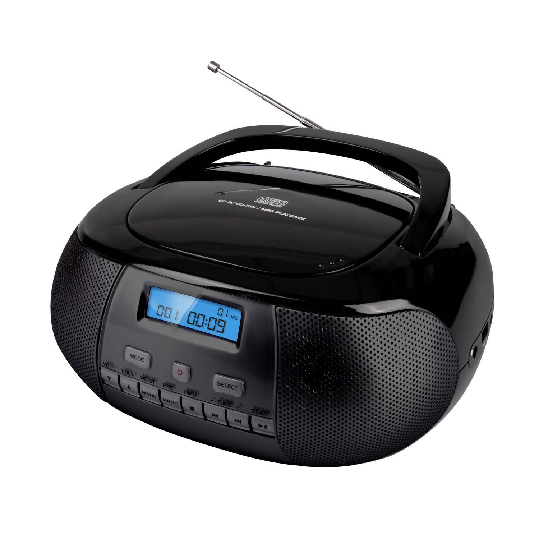 NIKKEI NPRD58BK Portable DAB+ radio-CD-speler met USB-poort Zwart