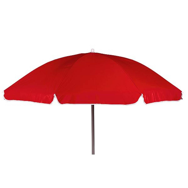Bo Camp Parasol Met Knikarm Ø 200 cm Rood