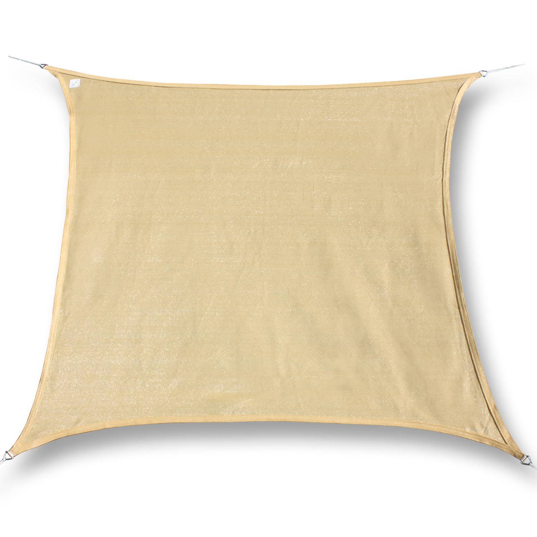 Hanse® vierkant waterdicht schaduwdoek -zonnedoek 5x5m Zand