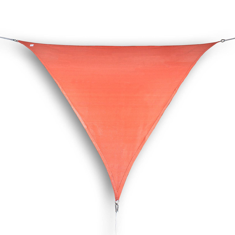 hanSe® Driehoekig Waterdoorlatend schaduwdoek 5x5x5 m Terracotta