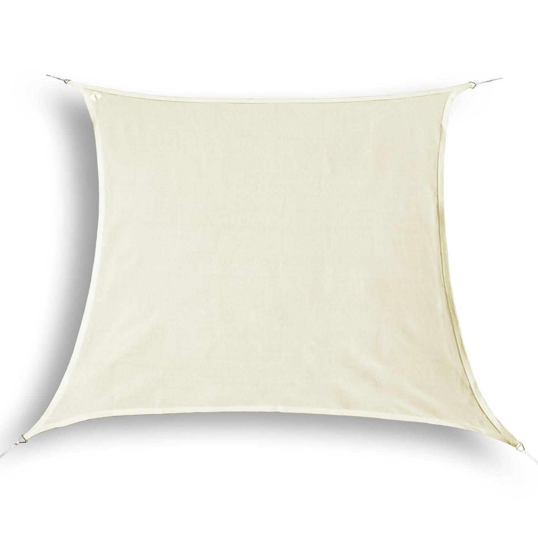 Hanse® vierkant waterdoorlatend schaduwdoek 4x4 m Creme