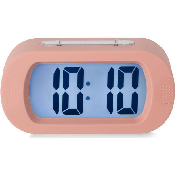 Blokker wekker Ludo - roze - 14x7x4,6 cm