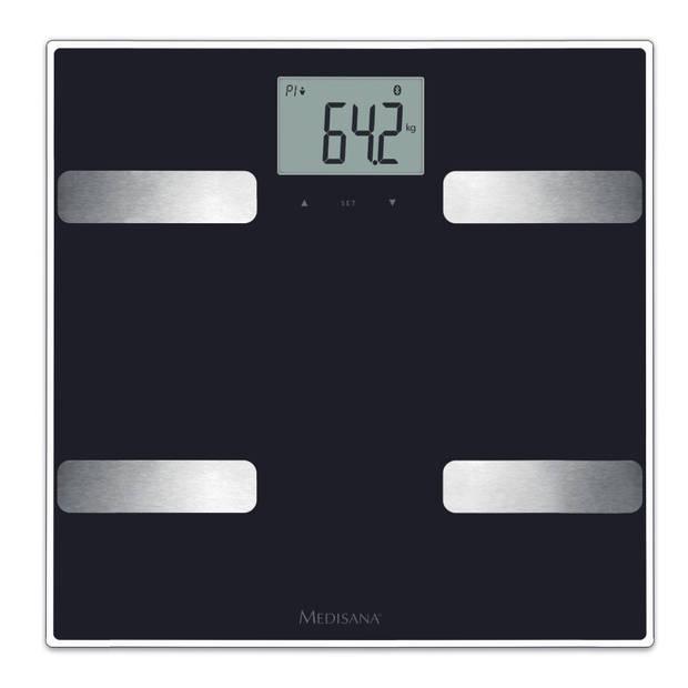 Medisana BS A41 lichaamsanalyse weegschaal met Bluetooth (zwart)