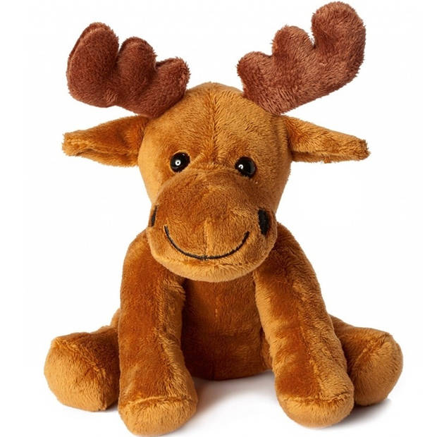 Pluche bruine eland knuffel 20 cm - Elanden knuffels - Speelgoed voor kinderen