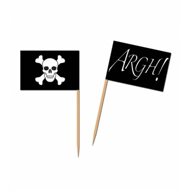 Piraten feest cocktailprikkers 100 stuks - Borrelhapjes prikkers piraat