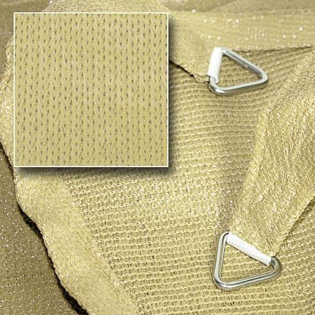 Hanse® rechthoekig waterdoorlatend schaduwdoek - 4x5 m - Zand