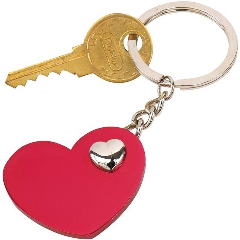 Korting Sleutelhanger Met Rood Hartje 4 Cm Valentijn Cadeau Valentijnsdag Sleutelhangers