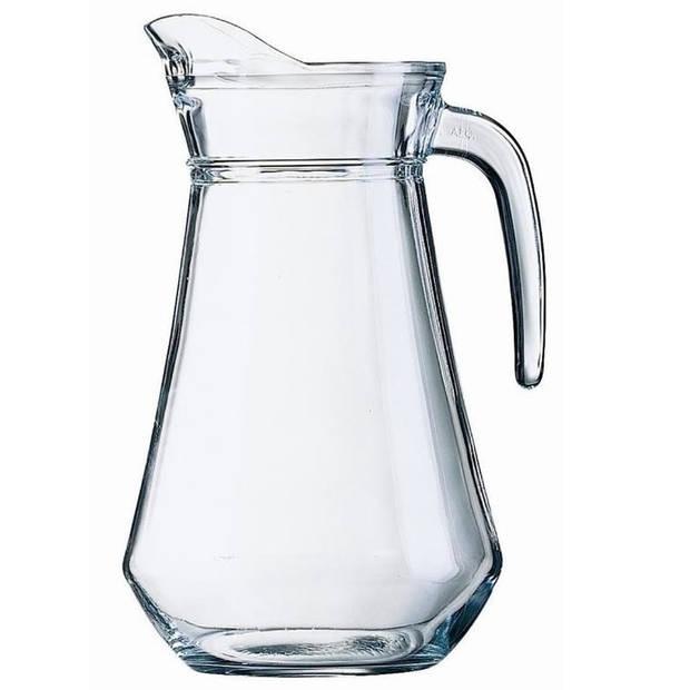 Schenkkan 1 liter 20 cm - Sapkannen/waterkannen/schenkkannen/limonadekannen van glas