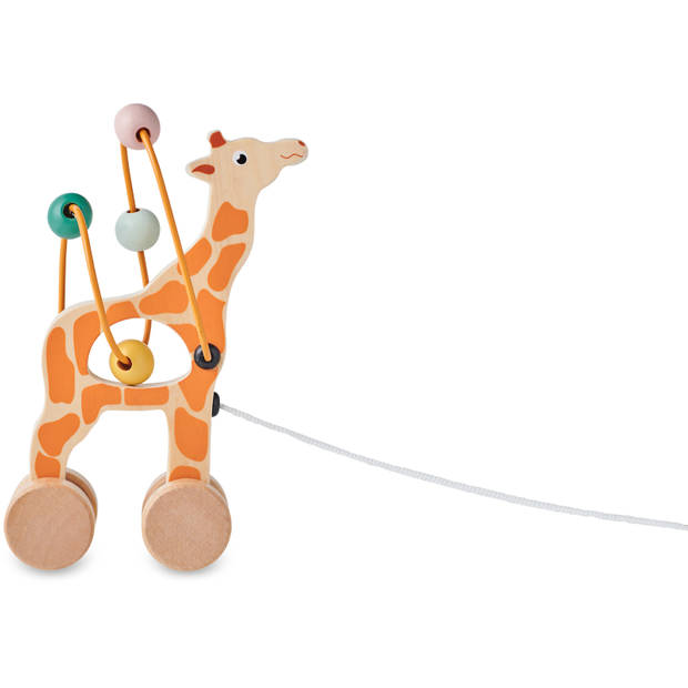Blokker Trekdiertje Giraf Hout