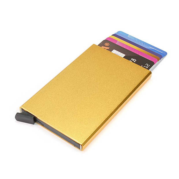 Figuretta Aluminium Hardcase RFID Cardprotector Goud