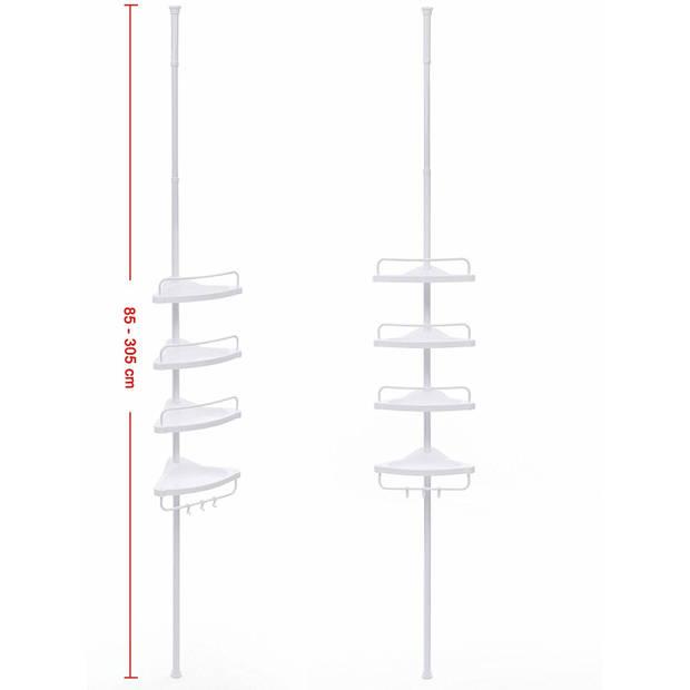 Douchrek telescopisch douchrekje past altijd verstelbaar 85cm - 305cm Per level 4 flessen