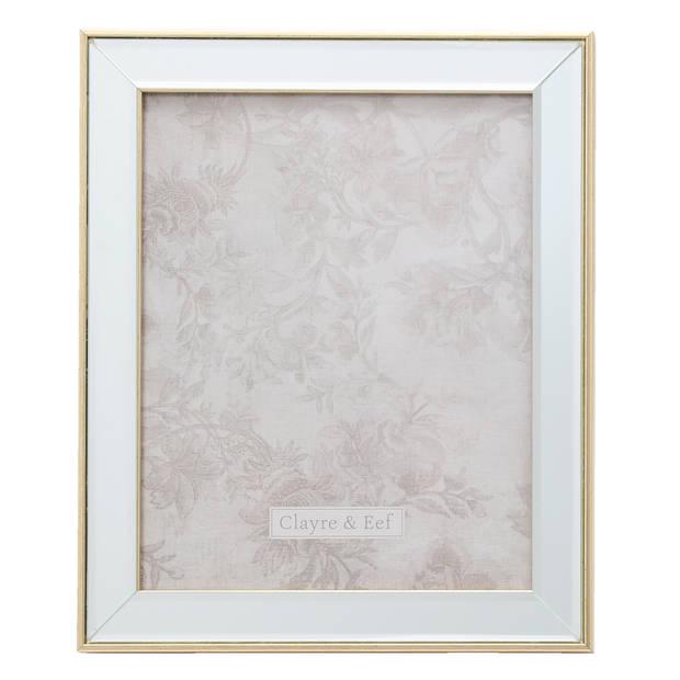 Fotolijst - 25*2*30 / 20*25 cm - zilverkleurig - polyresin / glas - rechthoekig - Clayre & Eef - 2F0622L