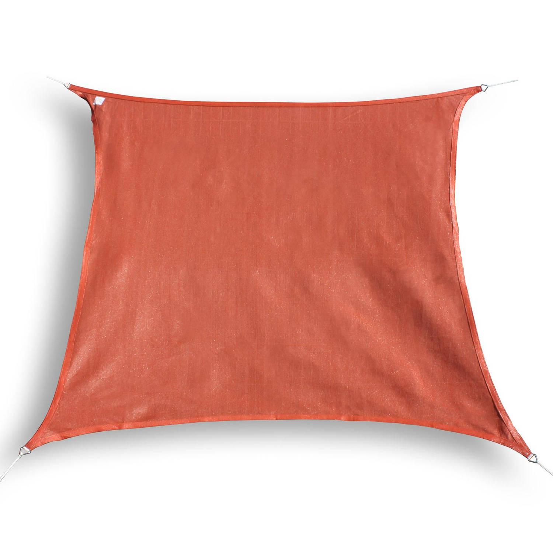 hanSe® Vierkant Waterdoorlatend schaduwdoek 4 x 4 m Terracotta
