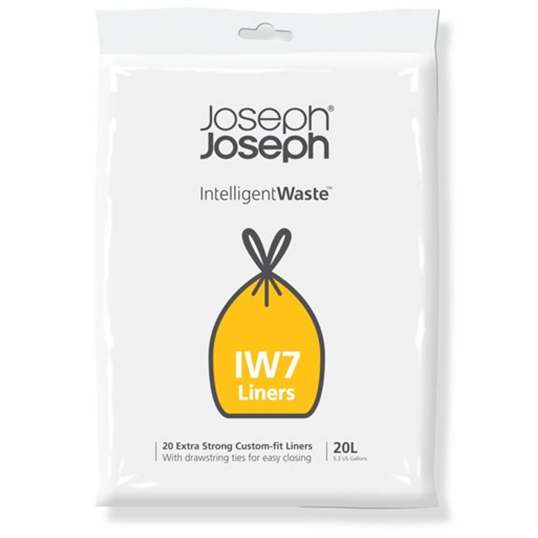 Intelligent Waste Afvalzak, Iw7 - 20 Stuks - 20 Liter - Joseph Joseph
