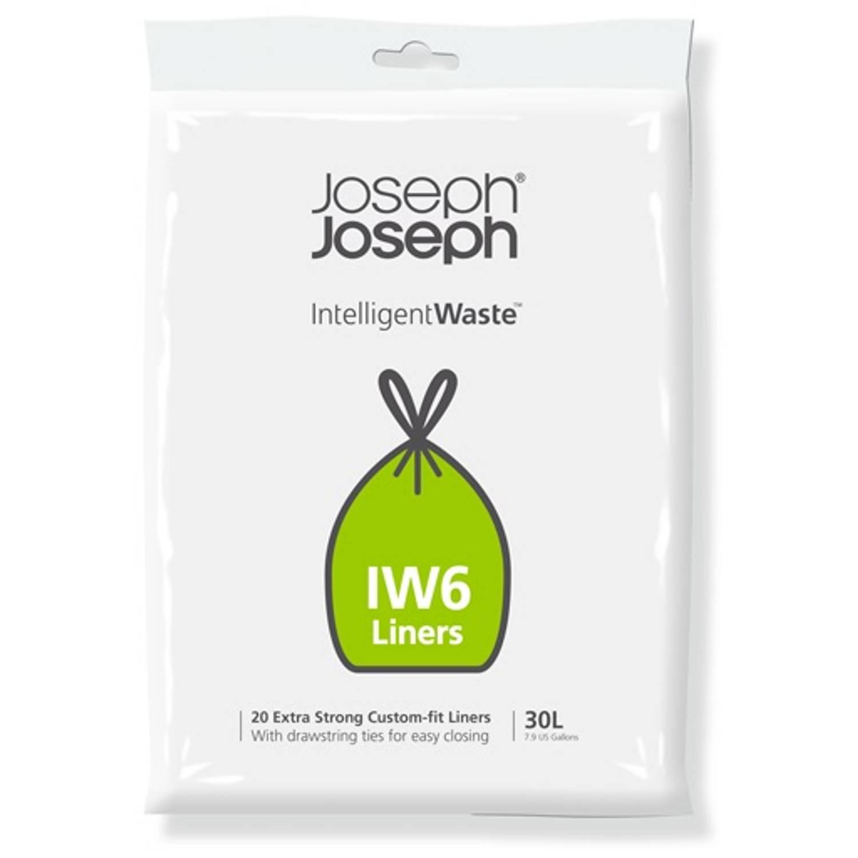 Intelligent Waste Afvalzak, Iw6 - 20 Stuks - 30 Liter - Joseph Joseph