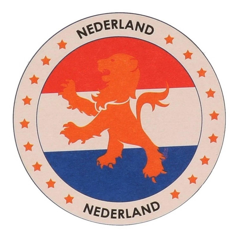 100x Bierviltjes Nederlandse Leeuw Thema Print - Hollandse Leeuwen Bier Viltjes / Onderzetters