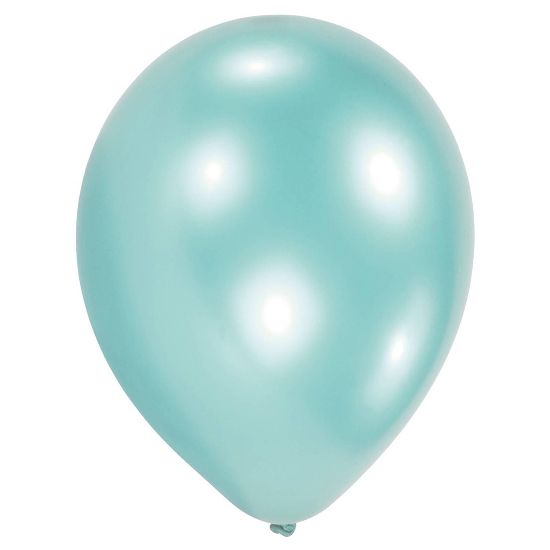 Korting Amscan Ballonnen Turquoise Parel 27,5 Cm 25 Stuks