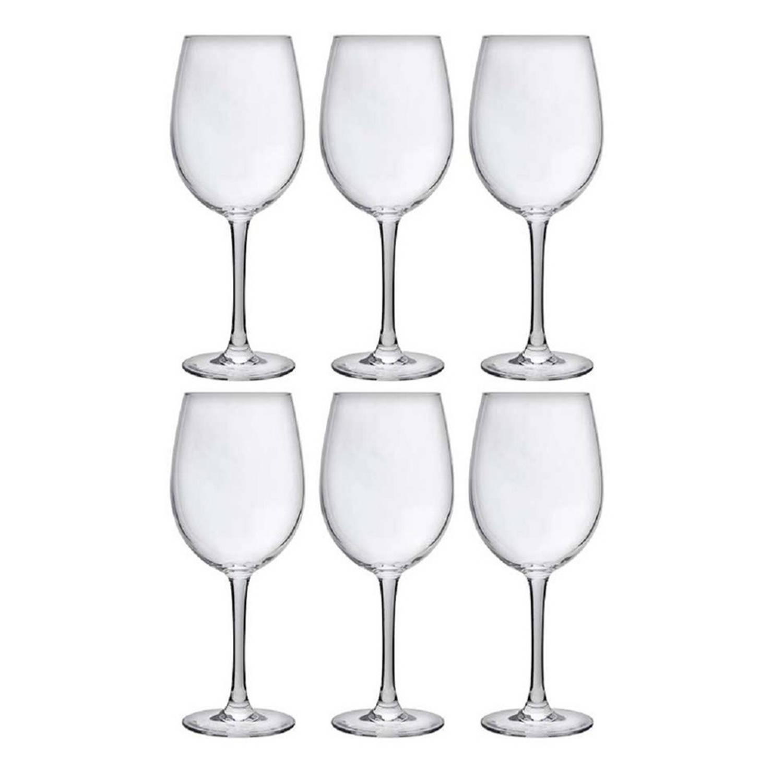 6x Luxe Wijnglazen Voor Rode Wijn 480 Ml - 48 Cl - Rode Wijn Glazen - Wijn Drinken - Wijnglazen Van Glas