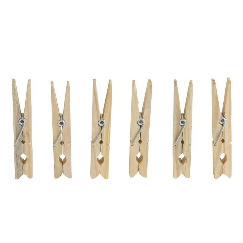 Korting 36x Wasknijpers Wasspelden Van Hout Huishoudelijke Producten Knijpers