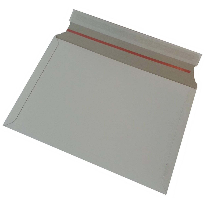 Korting 50x Witte Kartonnen Verzendenveloppen 38 X 26 Cm Enveloppen Verzendmateriaal verpakkingen