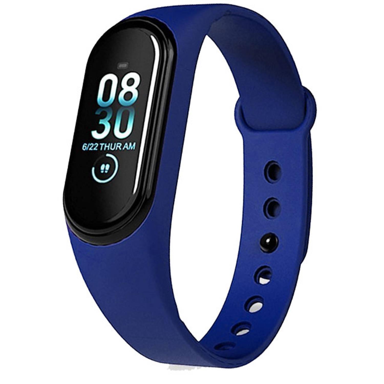 Smart Bluetooth Activity Tracker Waterdicht Hartslagmeter en Slaapmonitor Blauw