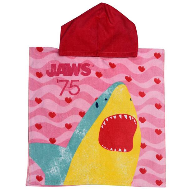 Jaws badponcho roze junior 50 x 100 cm