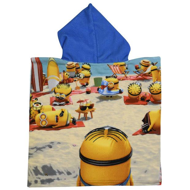 Universal badponcho Vacay Minions blauw junior 50 x 100 cm