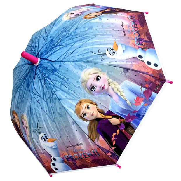 Chanos paraplu Frozen 2 meisjes 46 cm roze/blauw