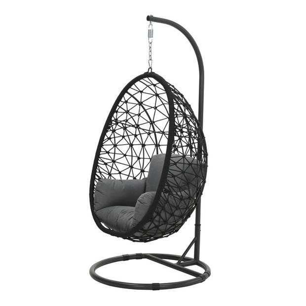 Garden Impressions Hangstoel Panama hangstoel ei - rope zwart