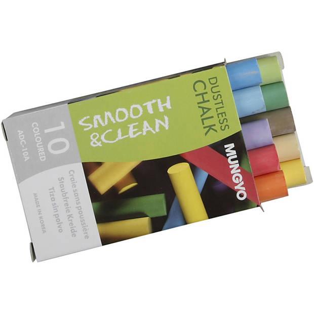 Creotime schoolbordkrijt junior 8 cm multicolor 100 stuks