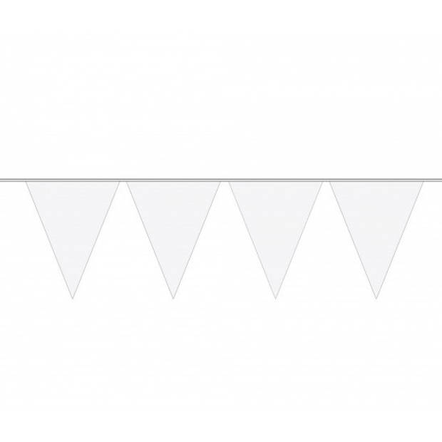 3x stuks vlaggetjes vlaggenlijnen wit - 10 meter - slingers