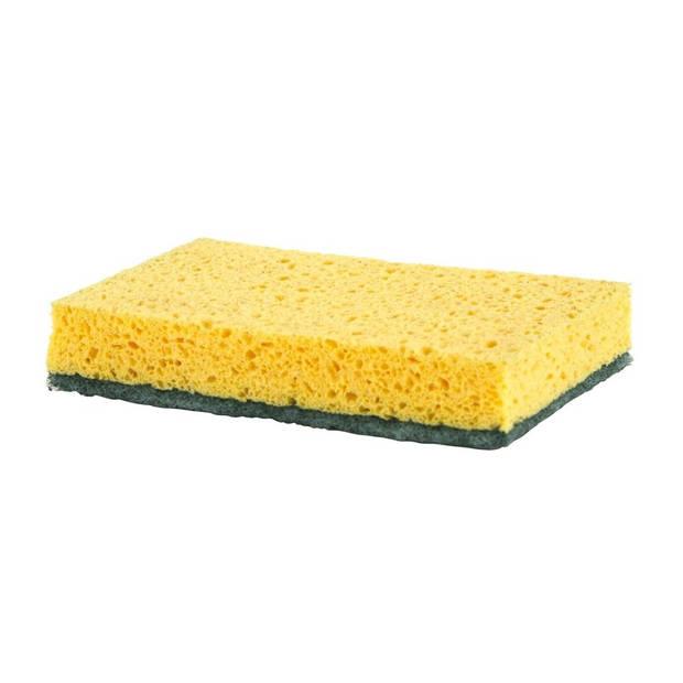 10x Schuurspons / keukenspons viscose 13 x 90 x 2.5 cm - Schoonmaakartikelen