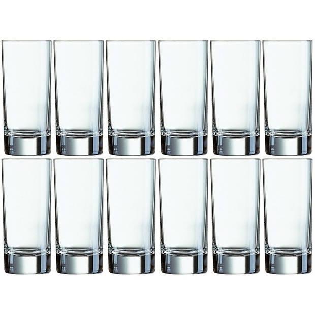12x Longdrinkglazen 330 ml - 33 cl - Longdrink glazen - Water/sapglazen - Longdrink glazen van glas